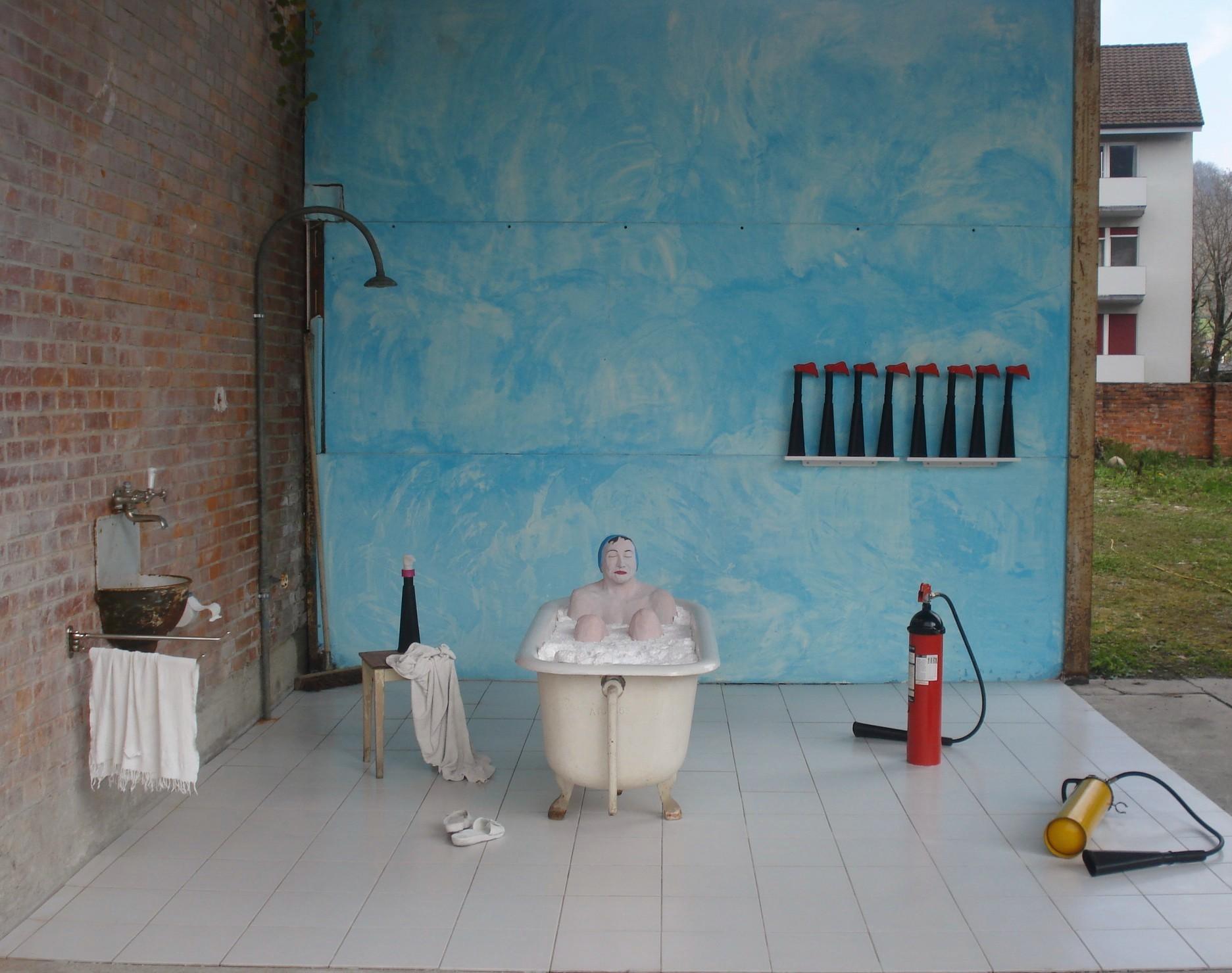 Installation Tonwerk von Sylvia Heuser
